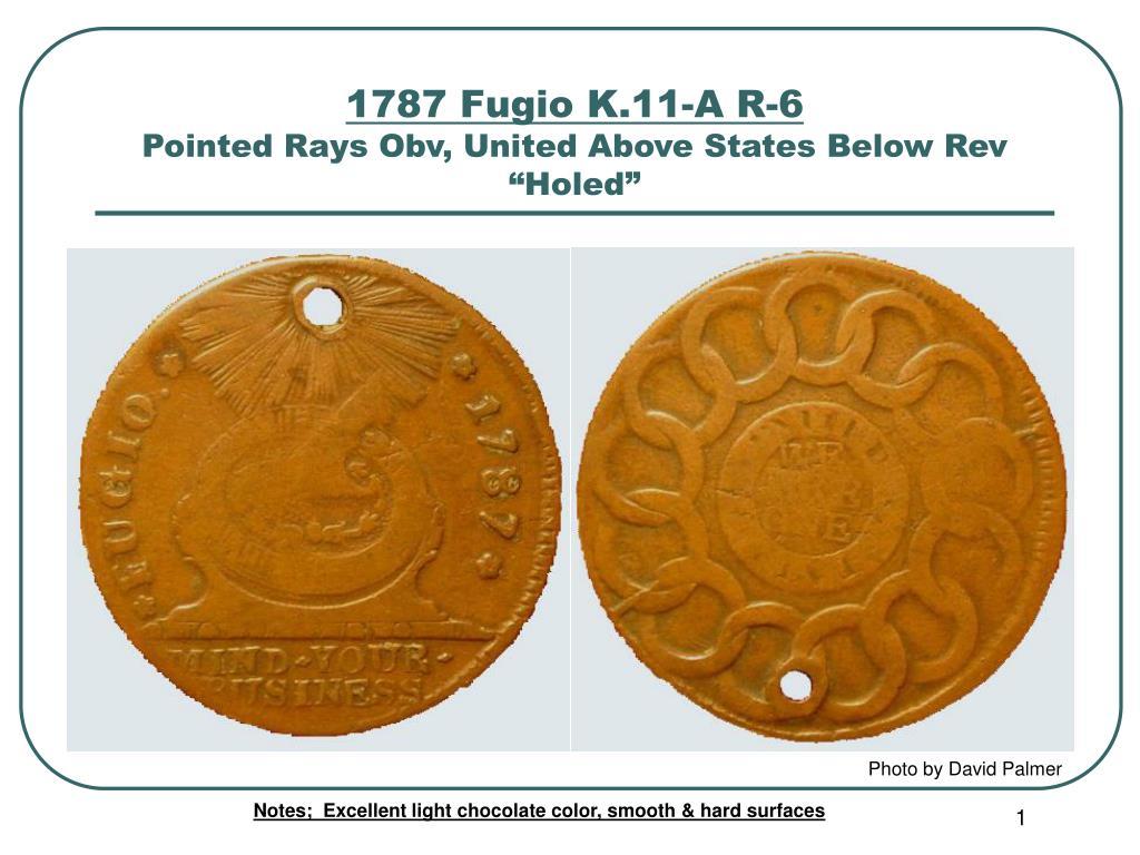 1787 Fugio K.11-A R-6