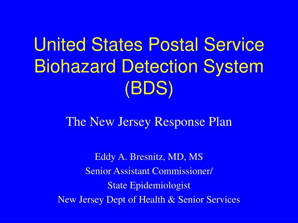 united states postal service biohazard detection system bds l.