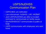 usps njdhss communication plan