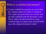 what is a certified document
