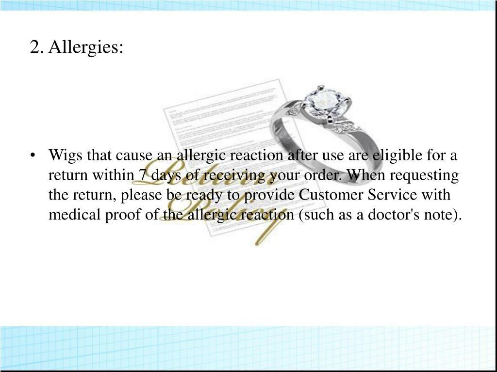 2.Allergies: