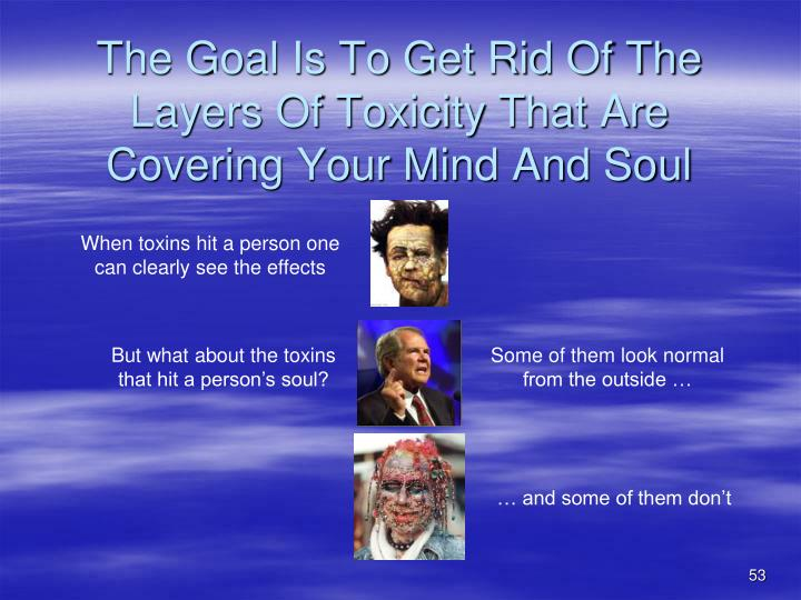 The Goal Is To Get Rid Of The Layers Of Toxicity That Are Covering Your Mind And Soul