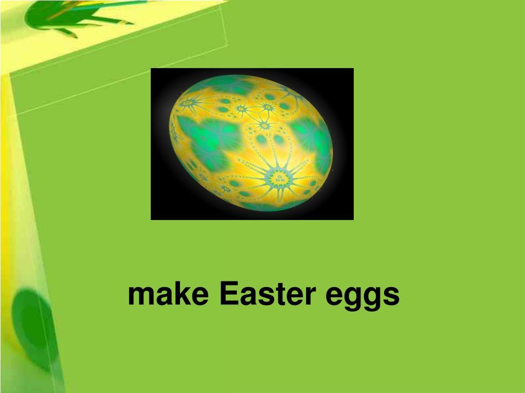 make Easter eggs