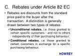 c rebates under article 82 ec