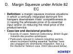d margin squeeze under article 82 ec