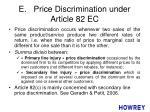 e price discrimination under article 82 ec