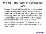 pricing the core of competition law