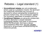 rebates legal standard 1