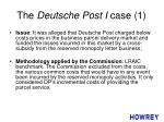 the deutsche post i case 1