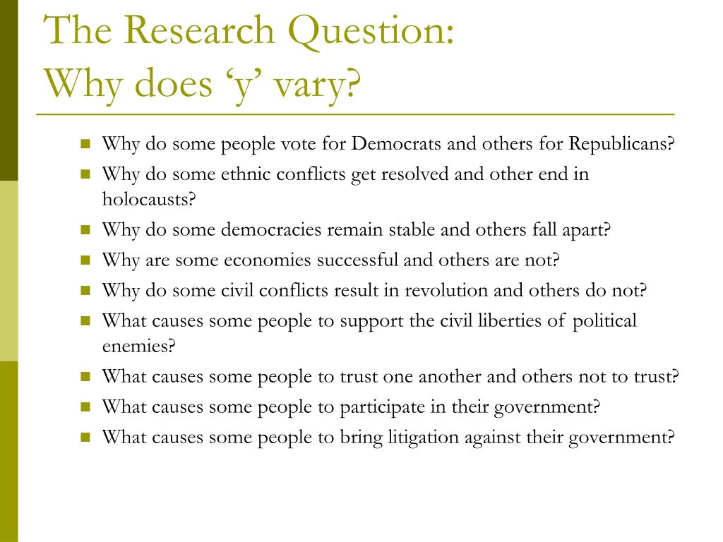 The Research Question: