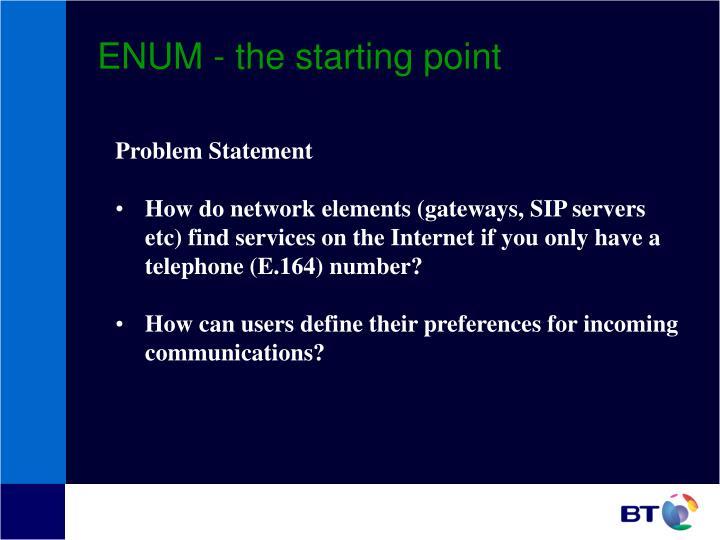Enum the starting point