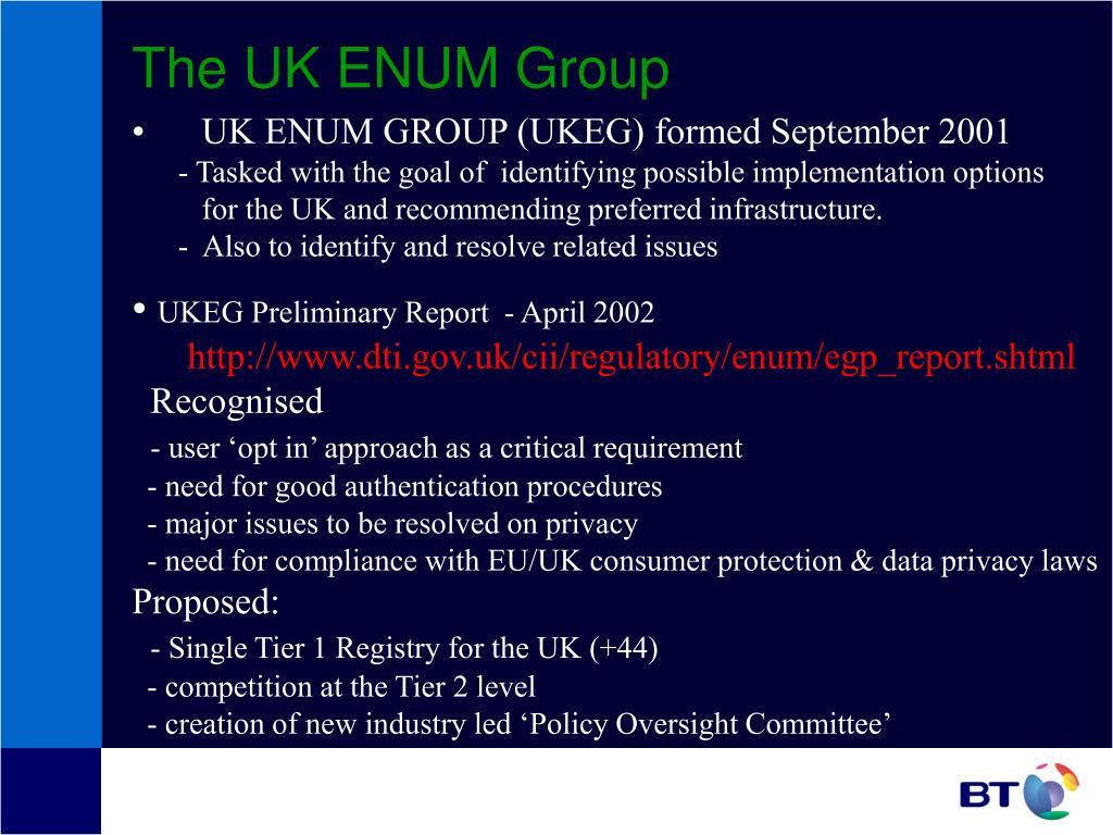 The UK ENUM Group