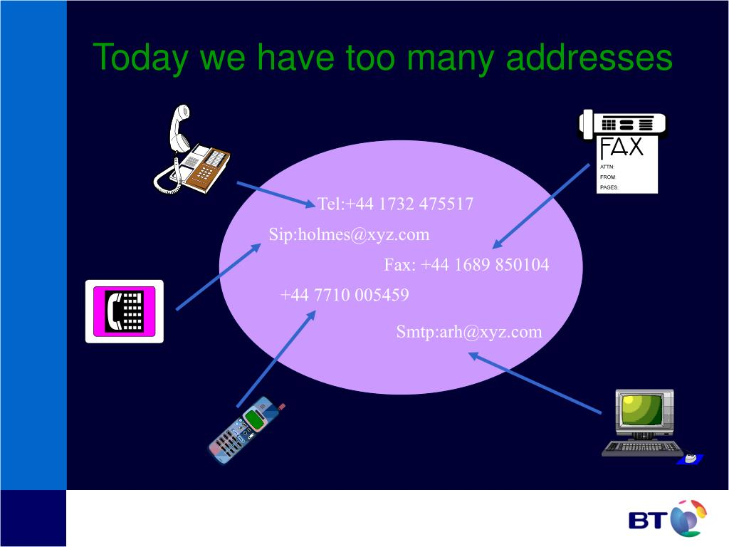 Today we have too many addresses