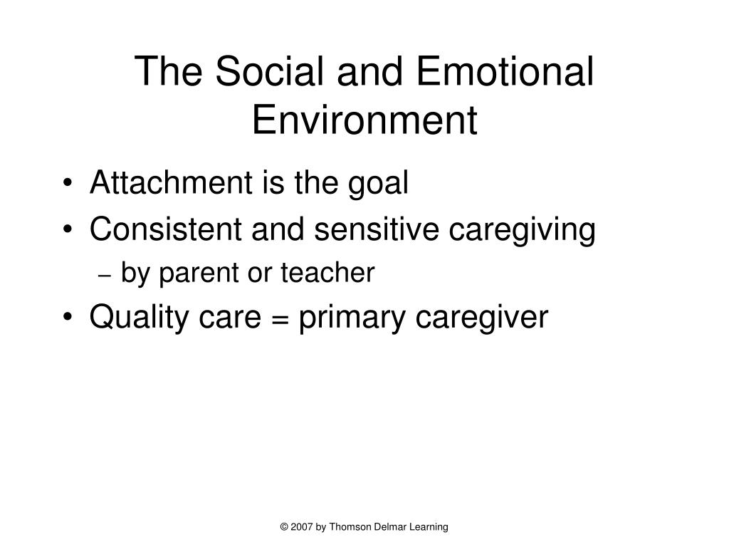 The Social and Emotional Environment