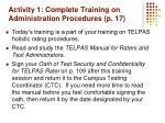 activity 1 complete training on administration procedures p 17