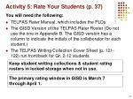 activity 5 rate your students p 37