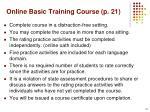 online basic training course p 21