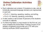 online calibration activities p 21 22