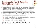 resources for new returning telpas raters p 21