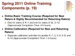 spring 2011 online training components p 19