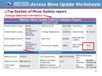 access move update worksheets