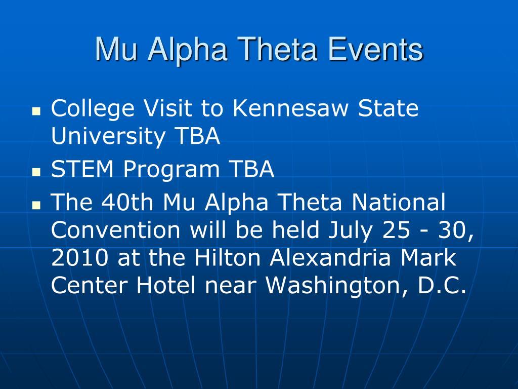 Mu Alpha Theta Events