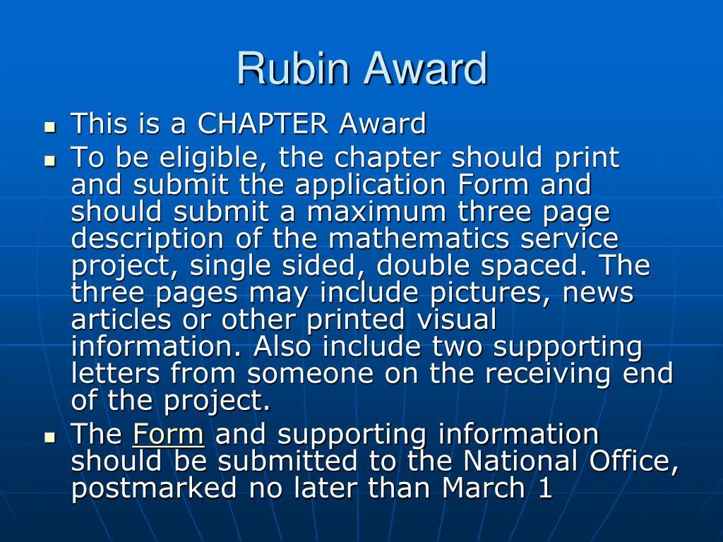 Rubin Award