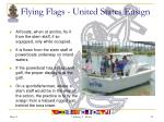 flying flags united states ensign