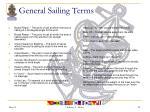 general sailing terms