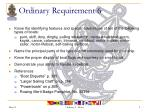 ordinary requirement 6