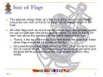 size of flags