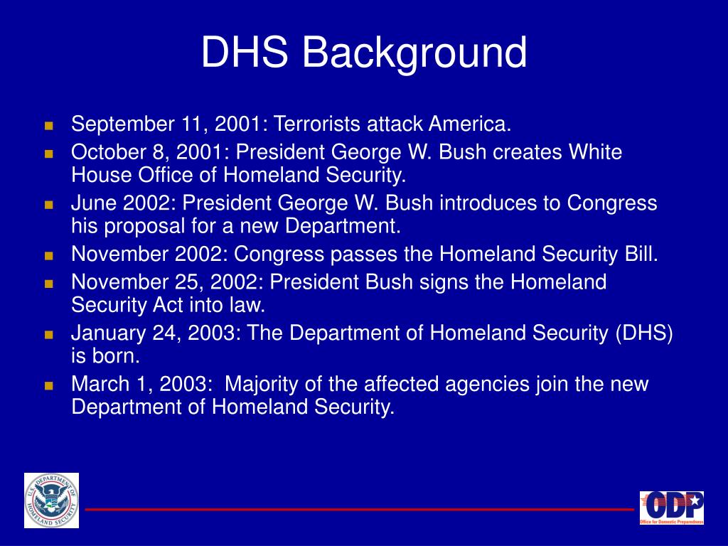 DHS Background