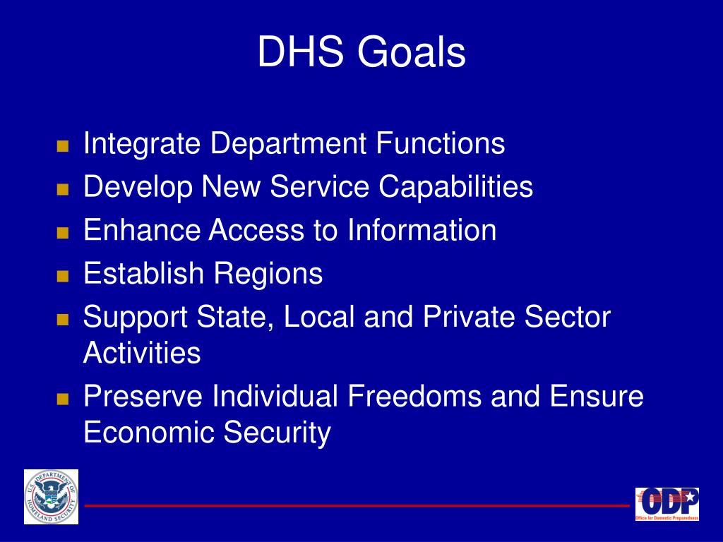 DHS Goals