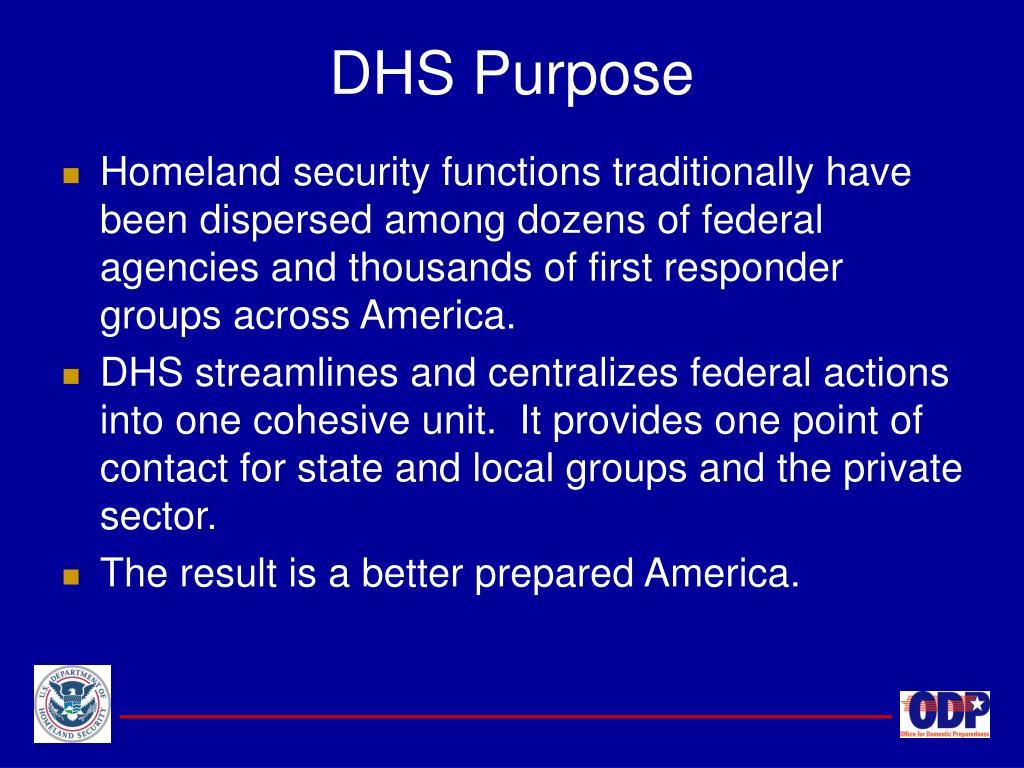 DHS Purpose