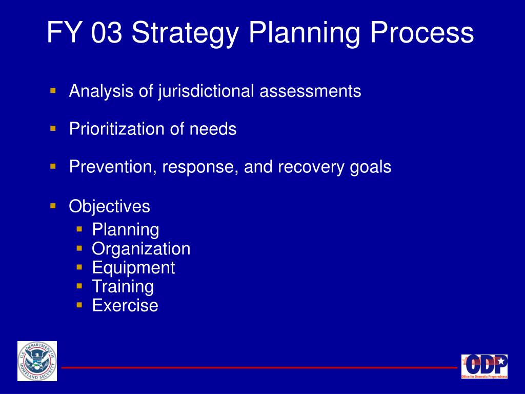 FY 03 Strategy Planning Process