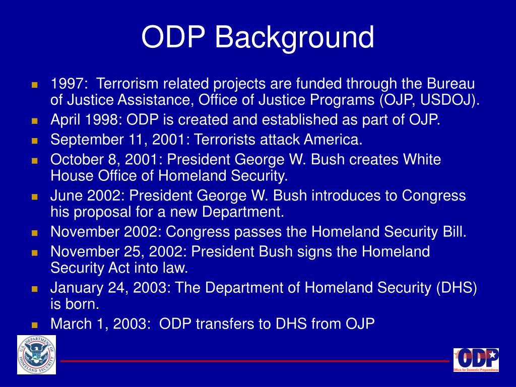 ODP Background