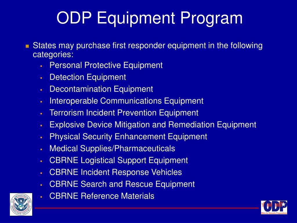 ODP Equipment Program