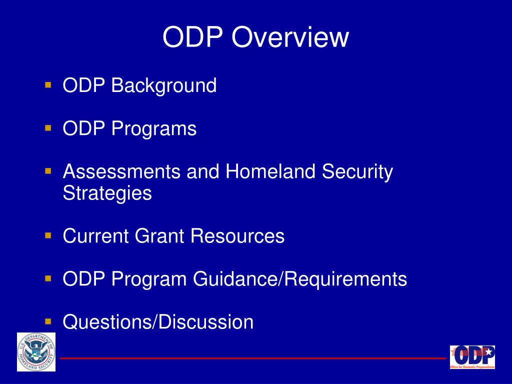 ODP Overview