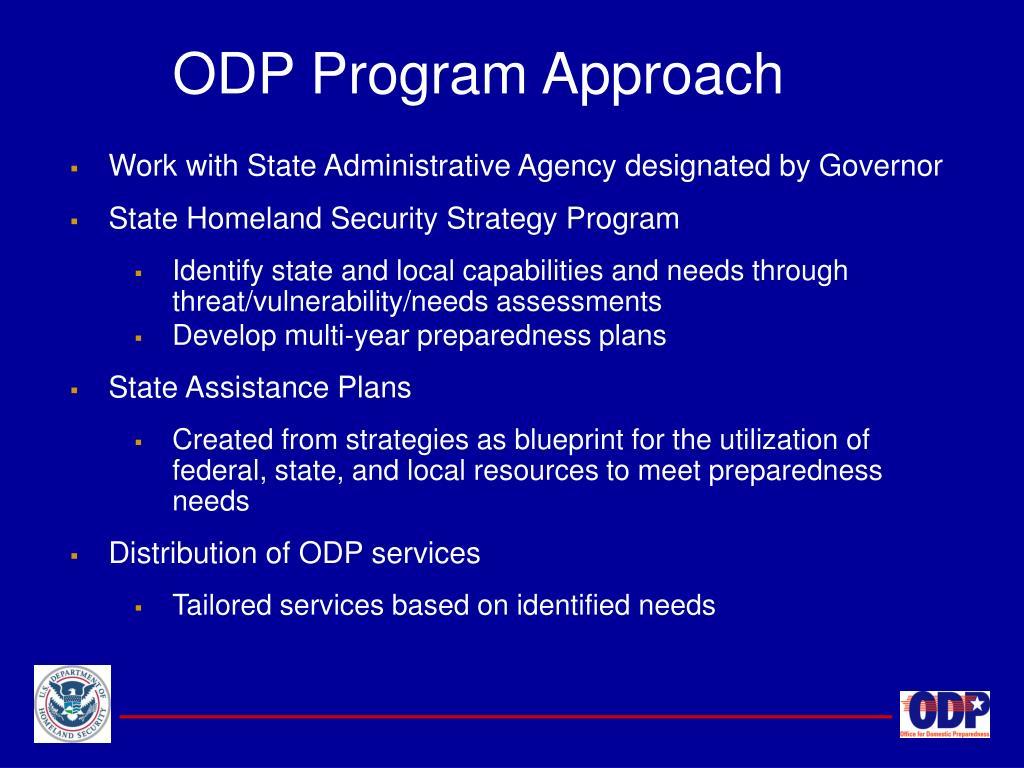 ODP Program Approach