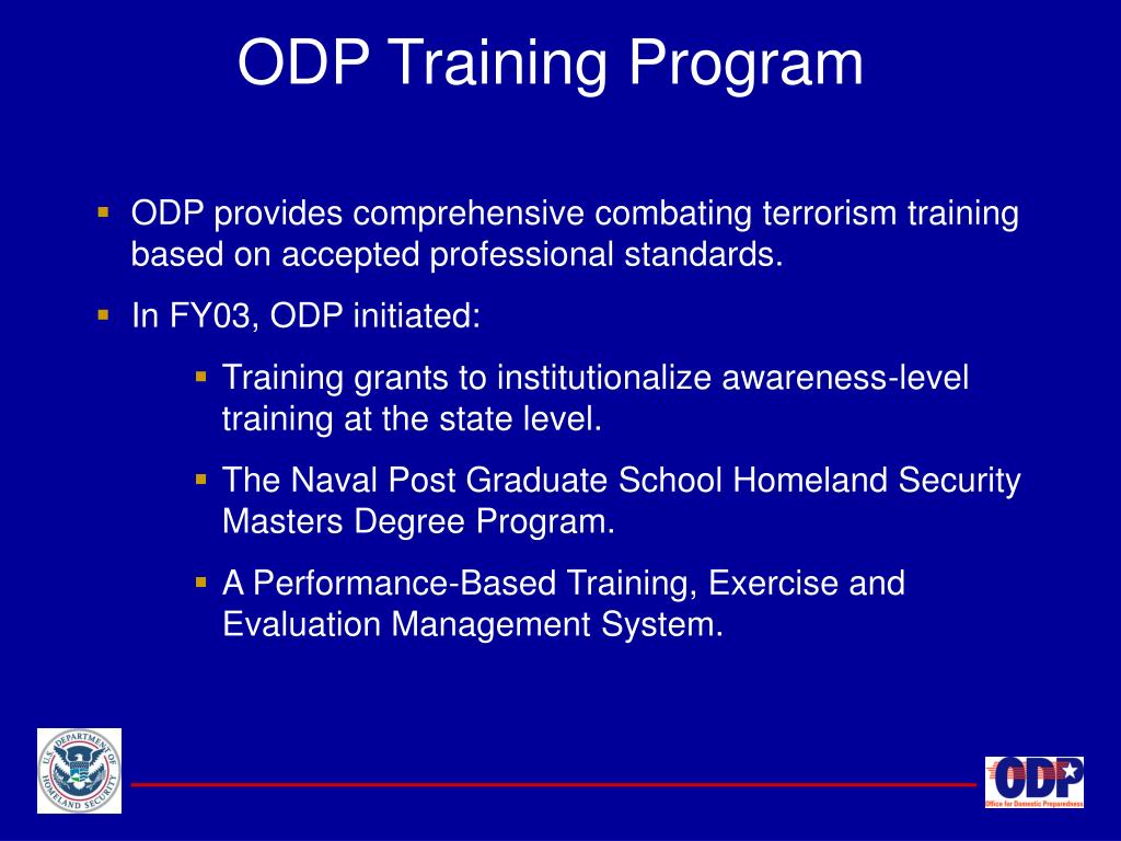ODP Training Program