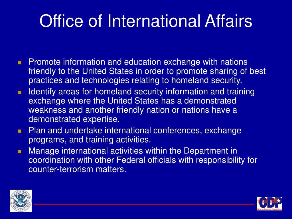 Office of International Affairs