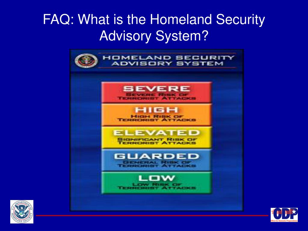 FAQ: What is the Homeland Security Advisory System?