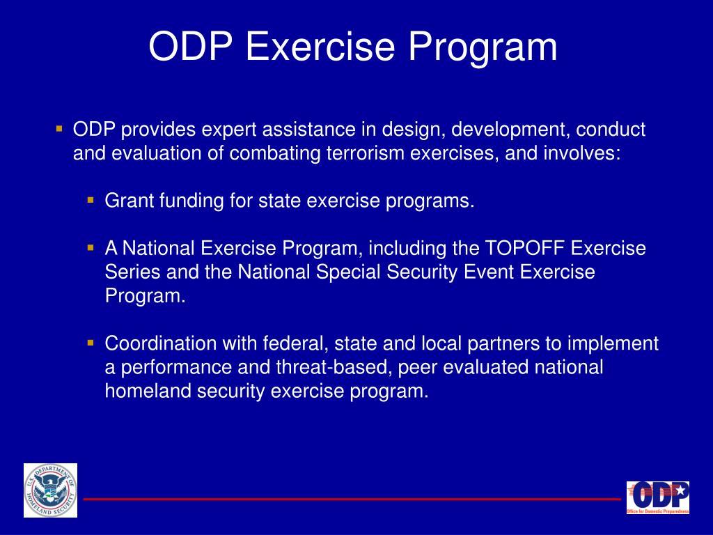 ODP Exercise Program