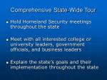 comprehensive state wide tour
