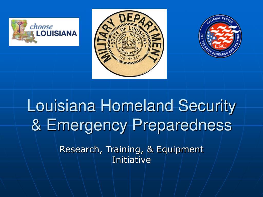 louisiana homeland security emergency preparedness