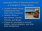 louisiana office of homeland security emergency preparedness