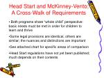 head start and mckinney vento a cross walk of requirements