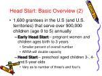 head start basic overview 2