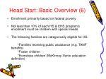 head start basic overview 6