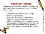 head start findings